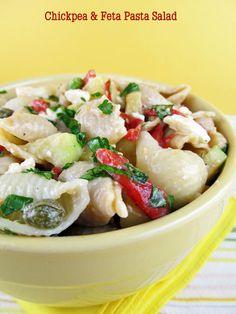 Chickpea and Feta Pasta Salad