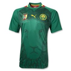 Cameroon 2012 Home Soccer Jersey I WANT ONE!!