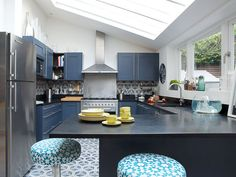 K Roussel Interiors project featuring popham design handmade Hex Arrow cement tiles.