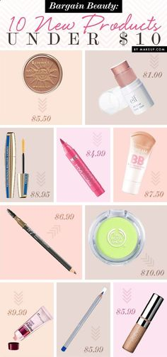 LOVE all of these, except the BB cream. Ive tried that brand and hated it. However, the Rimmel London BB cream changed my life. Its $6.99 and works WONDERS. Covers any imperfections and makes skin look absolutely perfect while feeling like you arent wearing makeup! I will never use anything else.