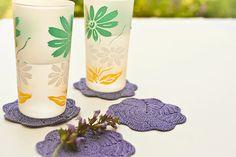Violet Crochet Coaster Set - Mothers Day Brunch.