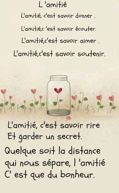 Super ideas for quotes friendship friends words The Words, More Than Words, French Poems, French Quotes, Best Friend Quotes, Best Quotes, Funny Quotes, Quotes Distance, Friendship Poems