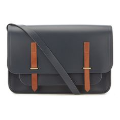 The Cambridge Satchel Company Men's Bridge Closure Bag (715 BRL) ❤ liked on Polyvore featuring men's fashion, men's bags, men's messenger bags, mens courier bag, mens laptop messenger bags and mens messenger bags
