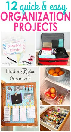 Quick and inexpensive organization projects!