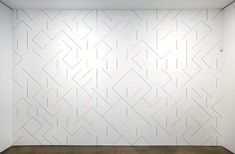 Amazing wall drawings by Sol Lewitt. These look like they're from when he experimented with crayon as a medium.
