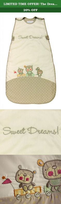 LIMITED TIME OFFER! The Dream Bag Baby Sleeping Bag Sweet Dreams 18-36 Months 3.5 TOG - Beige. Unlike blankets, The Dream Bag cannot be kicked off during the night so baby does not get cold and wake up. Baby knows its naptime or bed time when placed in The Dream Bag. The Dream Bag is safe as it cannot slip over baby's head. Baby can be cuddled to sleep in their Dream Bag and put in their cot without waking. Baby is happy in The Dream Bag and settles when on holiday or away from home when…