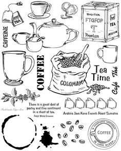 Blockheads Stamp Set - Coffee Tea Full Sheet unmounted 20.00
