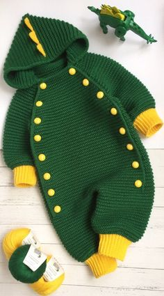Knit baby clothes romper jumpsuit 6 9 months kids baby knitted dragon costume baby overalls unisex overalls hooded overall Pull Bebe, Dragon Costume, Baby Overalls, Knitted Baby Clothes, Baby Knits, Baby Costumes, Baby Sweaters, Baby Knitting Patterns, Comfortable Outfits