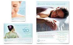 Day Spa and Resort Flyer and Ad Template Design by StockLayouts