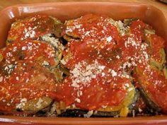 Truth be told, there are many versions of Eggplant Parmesan. This classic dish seems to have a lot of culinary fans, and now during the height of summer . Eggplant Lasagna, Baked Eggplant, Eggplant Parmesan, Eggplant Recipes, Stuffed Eggplant, Cooking Tv, Cooking Recipes, Italian Dishes, Italian Recipes