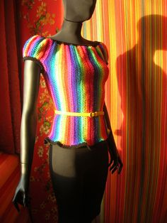 crochet top - - go to the site and just enjoy the color and work this young lady does...wow