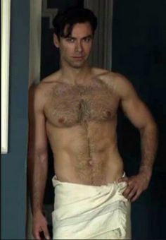 Aidan Turner in And Then There Were None, shirtless
