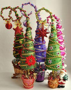 Новый год на Sees-All-Colors: Елочки из сизаля Ирины Марченковой