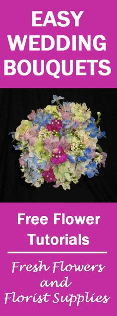 How to Make a Bouquet - Wedding Flower Tutorial  Learn how to make bridal bouquets, corsages, boutonnieres, centerpieces and church decorations.  Buy wholesale flowers and discount florist supplies.
