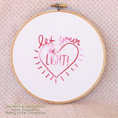 Let Your Heart Be Light by wildolive, via Flickr--Free embroidery pattern