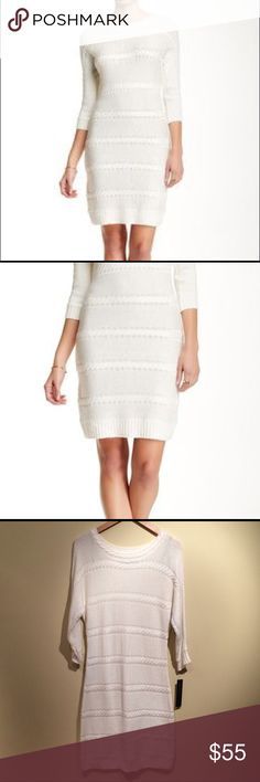 ⭐️NWOT⭐️ Andrew Marc Sweater Dress ⭐️NWOT⭐️ Marc New York by Andrew Marc Cable Knit Midi Sweater Dress in ivory is soft and chic. This dress goes well with booties. True to size. Andrew Marc Dresses