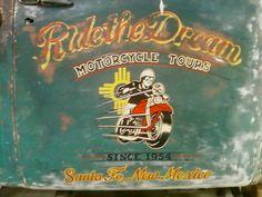 Ride the dream. Truck Lettering, Vintage Lettering, Lettering Design, Antique Trucks, Vintage Trucks, Old Trucks, Custom Tool Boxes, Door Signage, Door Letters