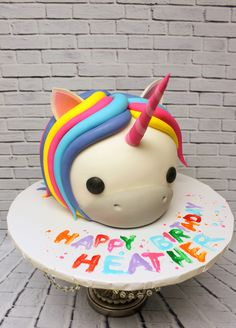 Adding a little whimsy to a birthday party! Custom Cakes, Sculpting, Icing, Unicorn, Birthday Cake, Urban, 3d, Creative, Party