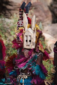 Dogon Mask Dancer - Mali, Africa