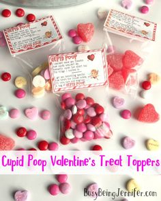 Cupid Poop Valentine's Treat Toppers - BusyBeingJennifer.com