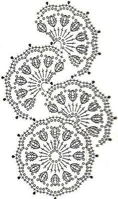 a beautiful crochet motif!Una variazione di un motivo più semplice!crochet pattern - I gotta learn how to read these charts better!GALA szydełku, handmade, crochet, DIY, ogrodzenia ogniw… na Stylowi.These crochet motifs would make an adorable spring c Filet Crochet, Beau Crochet, Crochet Lace Edging, Crochet Motifs, Freeform Crochet, Crochet Diagram, Crochet Stitches Patterns, Crochet Chart, Thread Crochet
