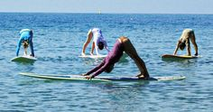 Sport of Stand Up Paddling (SUP)- yoga on a surfboard. If only I lived near the beach. Sigh.