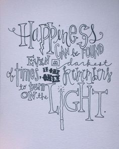 Harry Potter typography quote
