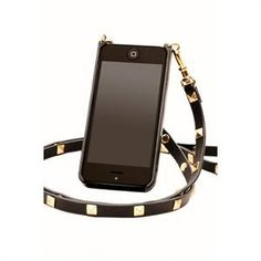 Bandolier Black and Gold Studs iPhone Crossbody Case