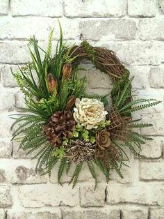 Fall Wreath for Door Front Door Wreath Summer Wreath for Burlap Flower Wreaths, Diy Wreath, Wreath Crafts, Grapevine Wreath, Floral Wreath, Wreath Fall, Wreath Burlap, Wreath Ideas, Summer Door Wreaths