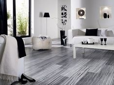 15-parchet laminat gri decor living modern in alb si negru