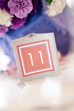 glitter table number.