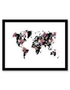 Download and print this Floral World free printable wall art for your home or office!