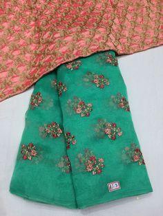 Designer Organza sarees with designer blouse - Elegant Fashion Wear