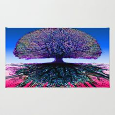 Tree of Life Creative Link Area & Throw Rug by Amelia  Carrie - $28.00