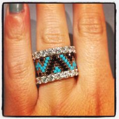 Handmade chevron ring by ClaireElizabethB on Etsy (Stackable's not included, but don't you love the idea??)