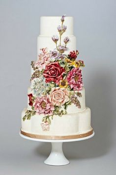 Hand Painted Wedding Cakes via Intimate Weddings PERFECT