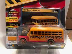 1:64JOHNNY LIGHTNING STREET FREAKS 2017 3B - 1956 SCHOOL BUS (DEMOLITION DERBY) #JohnnyLightning #Chevrolet