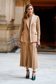 For Balmain, Olivia proved monochromatic dressing is stunning, | Olivia Palermo's Fashion Week Wardrobe Is Here to Inspire Your Next Outfit | POPSUGAR Fashion Photo 5