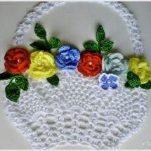 Christmas Crochet Patterns Part 6 - Beautiful Crochet Patterns and Knitting Patterns Christmas Crochet Patterns, Crochet Flower Patterns, Crochet Motif, Crochet Doilies, Crochet Flowers, Knitting Patterns, Crochet Home, Crochet Gifts, Crochet Potholders