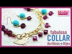 Como hacer un collar perlas rosadas con Adri Muñoz Kit 23260 - YouTube