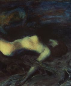 "silenceformysoul: "" Albert von Keller - Reclining Nude, Dream on the Beach (detail), 1913 "" Art Nouveau, Classic Paintings, Nude Photography, Erotic Art, Dark Art, Impressionism, Recliner, Illustration Art, Illustrations"