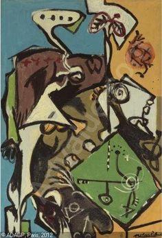 Jackson Pollock, The White Angel, c. 1946 on ArtStack #jackson-pollock #art