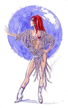 Bob Mackie Cher Costumes   Bob Mackie's Sketches of the new Costumes!! in Cher at The Colosseum ...