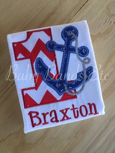 Personalized First Birthday outfit Anchor Outfit by BabyBandsEtc