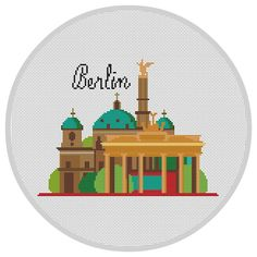 Berlin Cross Stitch Pattern PDF X128 by Xrestyk on Etsy