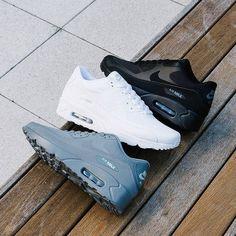 0a43c522110 Nike Air Max 90 x Black x White x Grey Nike Air Max Negras