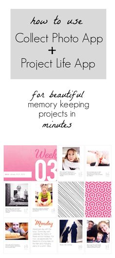 How to use Collect Photo App and Project Life App to make beautiful memory keeping projects in just minutes Digital Project Life, Project Life Album, Project Life Layouts, Project 365, Project Life Storage, Project Life Scrapbook, Pocket Scrapbooking, Digital Scrapbooking, Scrapbooking Ideas