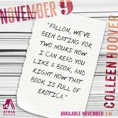 #November9 #ColleenHoover