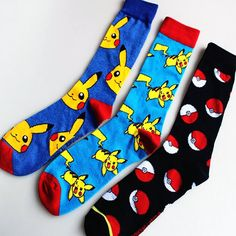 3D printed Pokemon socks for men