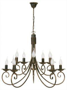 candelabru amplu cu 10 brate rustic PLOMYK marca Nowodvorski